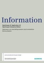 OpenScape UC Application V4 OpenScape Enterprise Edition ...