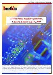 Mobile Phone Baseband (Platform, Chipset) Industry Report, 2009