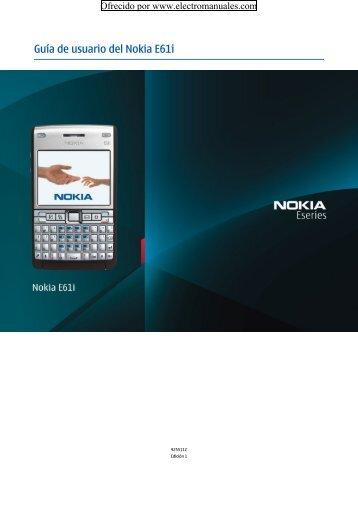 Guía de usuario del Nokia E61i - Electromanuals.org