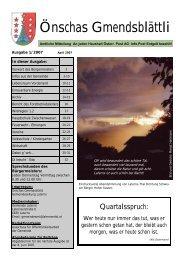 Ausgabe 1/2007 - Gemeinde Laterns