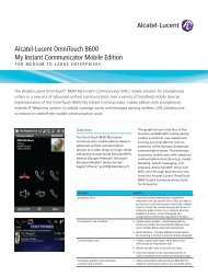 Alcatel-Lucent OmniTouch 8600 My Instant Communicator Mobile ...