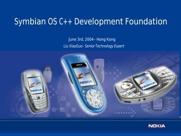 Forum Nokia Tools and Technologies - Nokia Developer - 你的灵感,我 ...