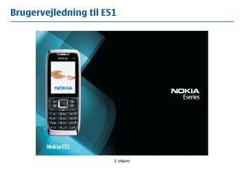 Brugervejledning til E51 - Nokia