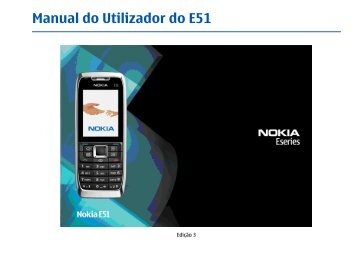 Manual do Utilizador do E51 - Nokia