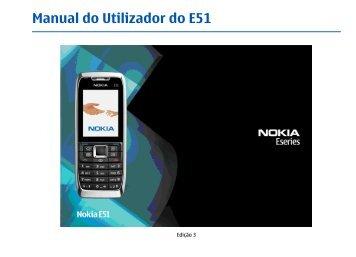 Manual do Utilizador do E51 - Nokia