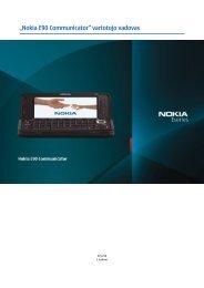 """Nokia E90 Communicator"" vartotojo vadovas"