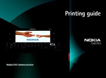 Nokia E90 Communicator Printing guide