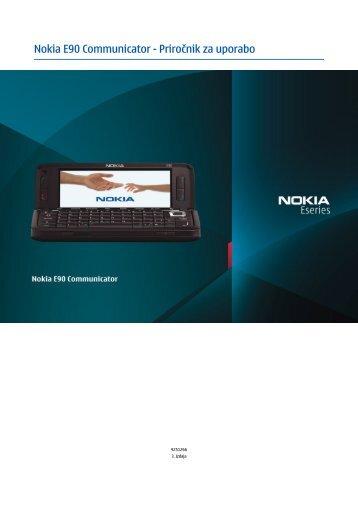 Nokia E90 Communicator - Priročnik za uporabo