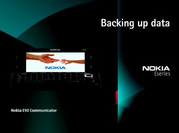 Backing up data - Nokia