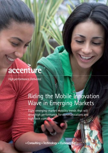 Riding the Mobile Innovation Wave in Emerging ... - MobileActive