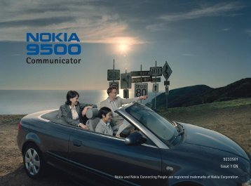 Nokia 9500 Communicator Zip Manager user guide