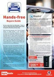 Hands-free - Digital Mobile