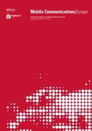 Strategic intelligence on mobile operators & markets February 15 ...