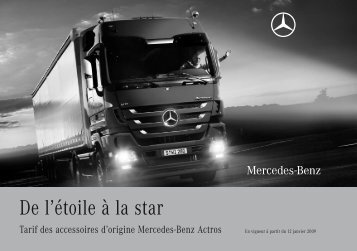Liste de prix Accessoires Actros - Mercedes-Benz in België