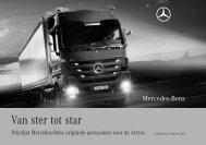 Prijslijst Accessoires Actros - Mercedes-Benz in België