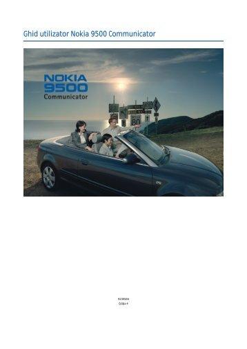 Ghid utilizator Nokia 9500 Communicator
