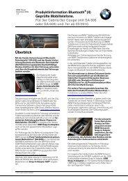 Bluetooth-Schnittstelle (PDF, 240k) - BMW