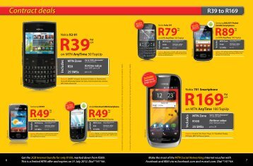 Contract deals R39 to R169