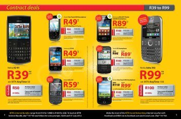 Contract Deals R39 To R99