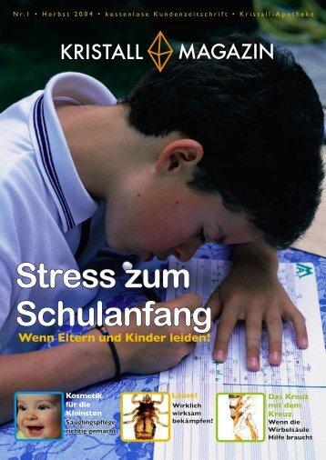 Stress zu Schulbeginn - Kristall-Apotheke