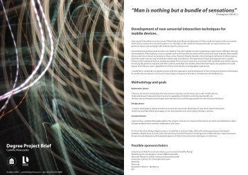 Man is nothing but a bundle of sensations - HAPI - haptic interaction ...