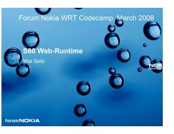 Widget - Nokia Developer