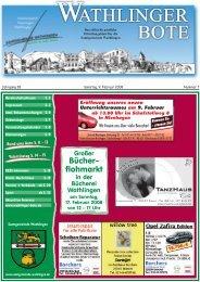 Bücher- flohmarkt - Wathlinger Bote