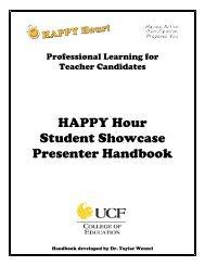 HAPPY Hour Student Showcase Presenter Handbook - College of ...