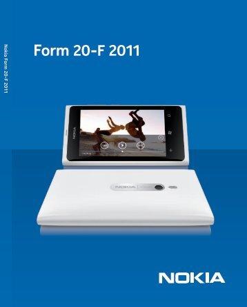 Form 20-F 2011 - Nokia