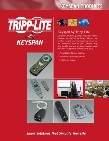 Keyspan by Tripp Lite Products Brochure 201010100 953190 English