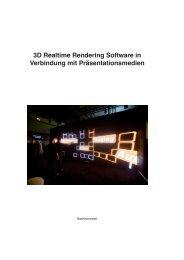 3D Realtime Rendering Software in Verbindung mit ... - DigDok