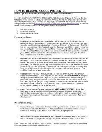 qualities of a good presenter pdf