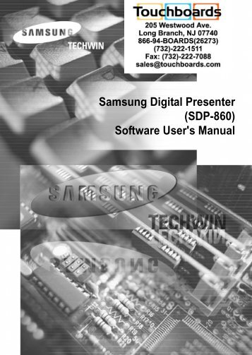 SDP-860 Software Manual - Touchboards.com