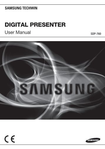 Samsung SDP-760 user manual - Samsung Digital Presenters