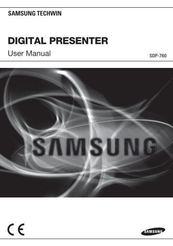 Samsung SDP-760 user manual - Samsung Digital Presenters