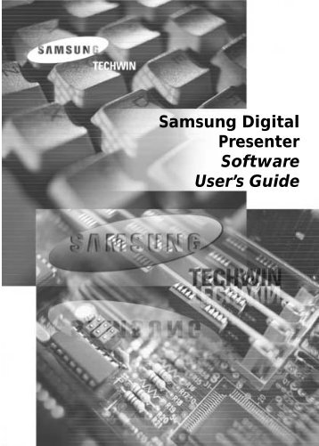 Samsung Digital Presenter Software User's Guide - COMM-TEC