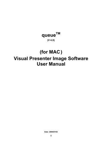 Visual Presenter Image Software User Manual - Francis Audio-Visual