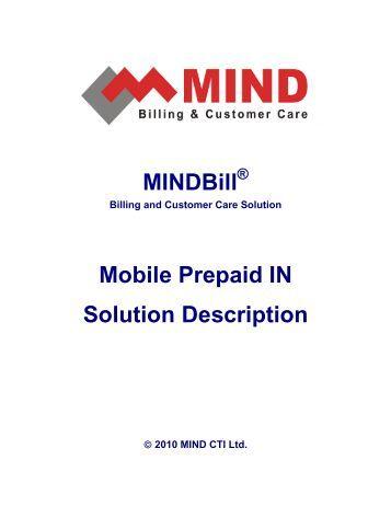 Mobile Prepaid IN Solution Description - Mind Cti