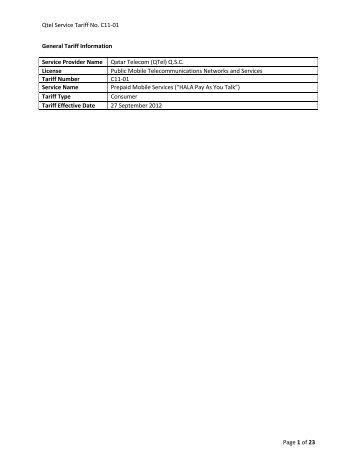 C11-01 Prepaid Mobile Services - Qtel