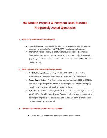 4G Mobile Prepaid & Postpaid Data Bundles ... - Digicel Jamaica