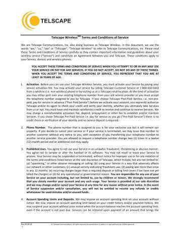 Telscape Prepaid Wireless Service - Telscape Communications, Inc