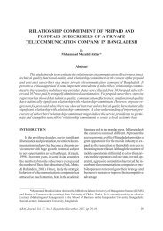 Relationship Commitment of Prepaid and Post-paid ... - AU Journal