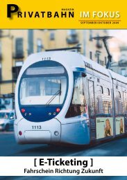 [ E-Ticketing ] - Privatbahn Magazin