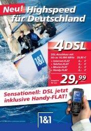 Sensationell: DSL jetzt inklusive Handy-FLAT!