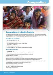 Compendium of mHealth Projects - Global Problems - Global ...
