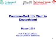 Premium-Markt für Wein in Deutschland