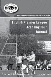 English Premier League Academy Tour Journal - NGIN