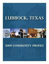 Community Profile 2.indd - City of Lubbock