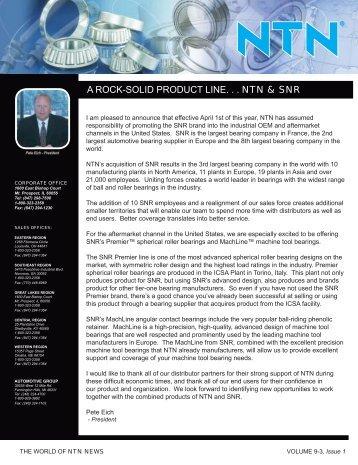 Congratulations - NTN Bearing Corporation of America
