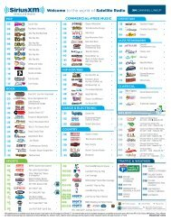 photo about Sirius Xm Channel Guide Printable known as Americas Greatest 200 Channel Line Up - Solarus
